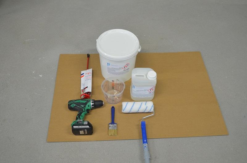 Primeren met epoxy op beton en cement vloeren - Vloer roller ...