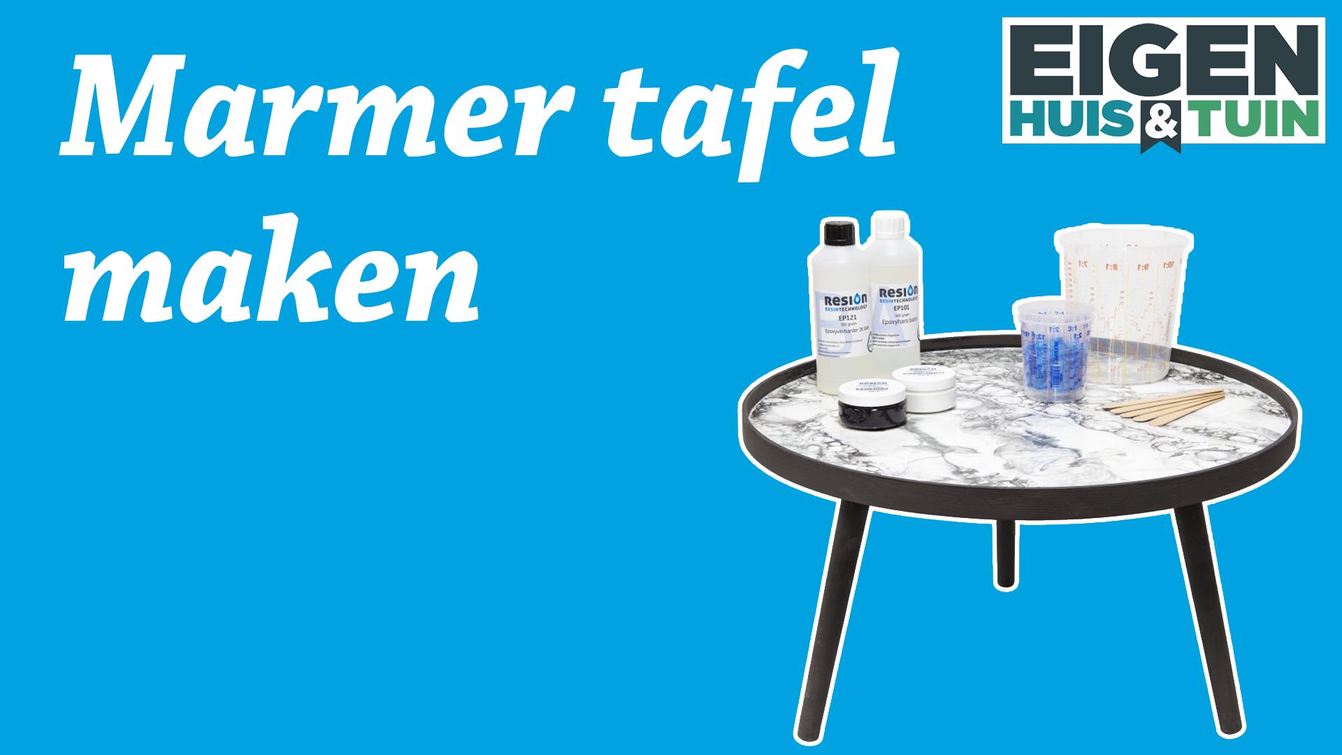 Maak een Marmer tafel zoals bij Eigen Huis & Tuin