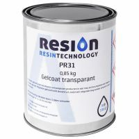 Polyester gelcoat transparant 0,85KG