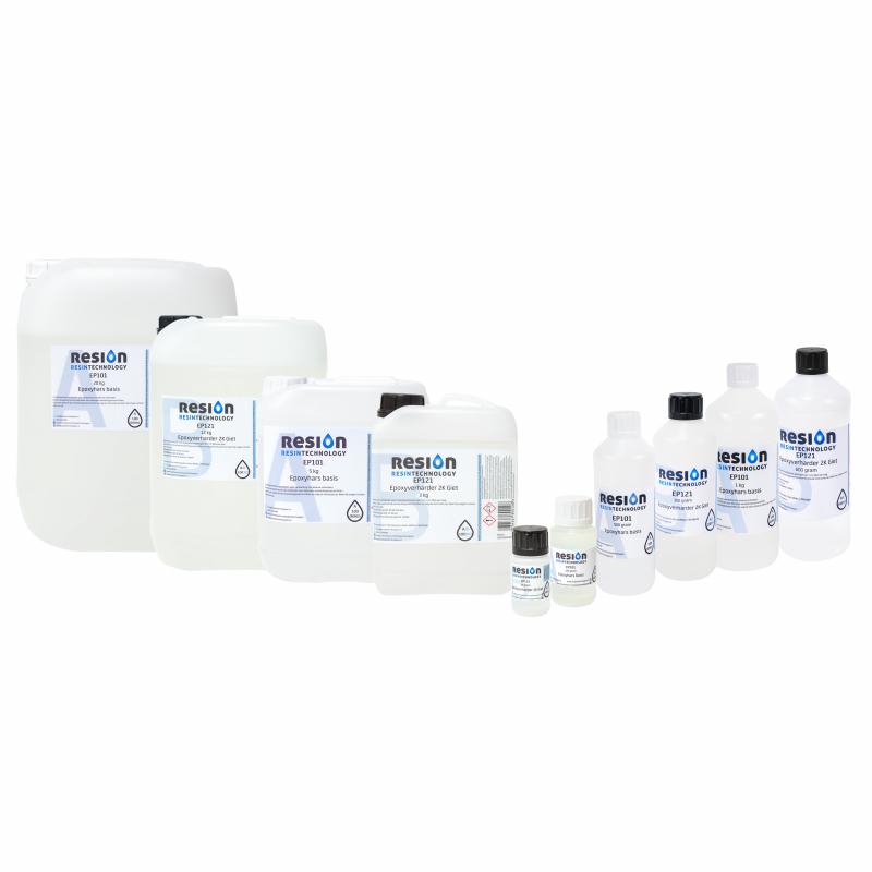 RESION transparante epoxy giethars verpakkingen