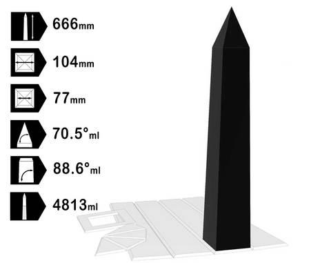 Obelisk 104mm hdpe mal
