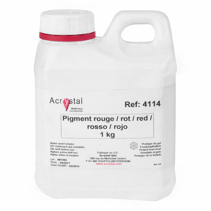 Acrystal pigment rood