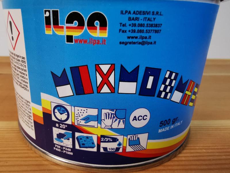 500 gram polyester plamuur label