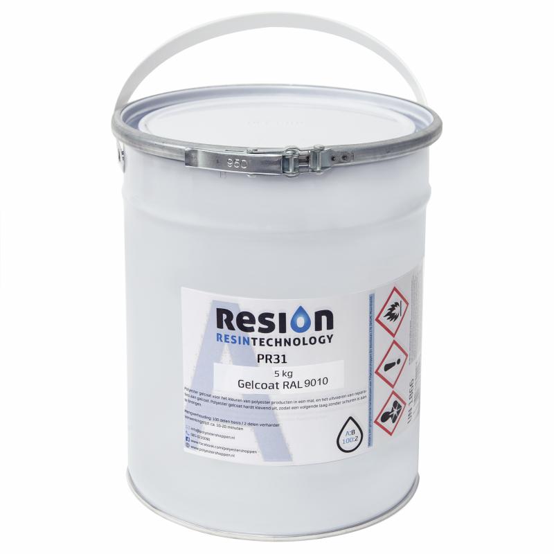 Polyester gelcoat in RAL kleur 5KG