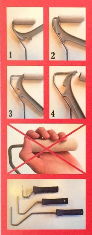 Rollergrip, eenvoudig verfrollers verwijderen