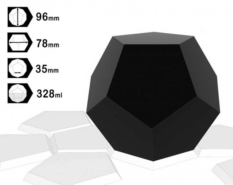 Dodecahedron HDPE mal